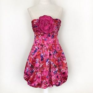 BCBG Max Azria Begonia Pink Floral Bubble Dress 4